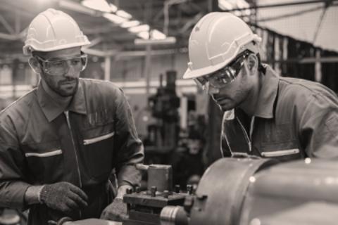 people working metal