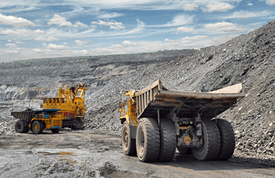 mining extraction truck